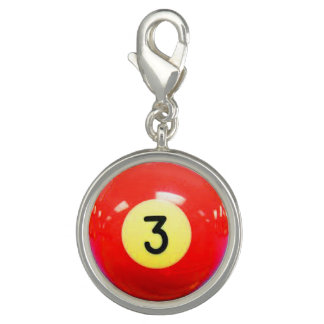 """3 Ball"" pool ball design jewelry set Charms"