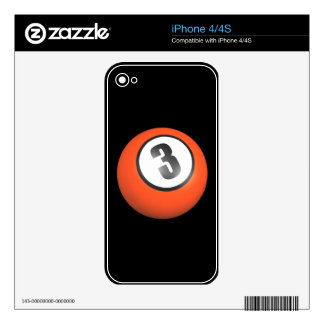 3 Ball Decals For The iPhone 4