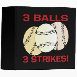 3 Balls 3 Strikes Binder