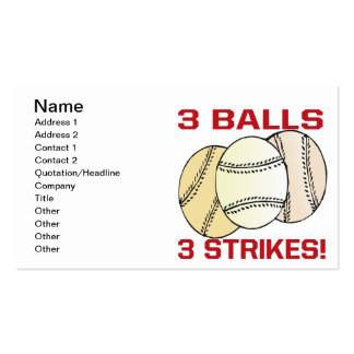 3 Balls 3 Strikes Business Card