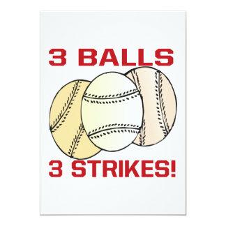 3 Balls 3 Strikes Card