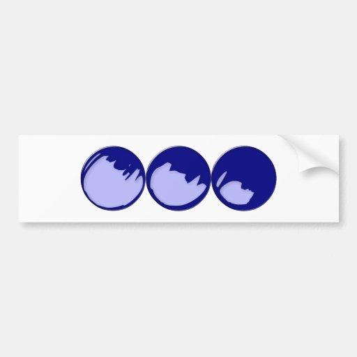3 balls of spheres car bumper sticker
