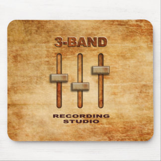 3-band equalizer (grunge version) mouse pad