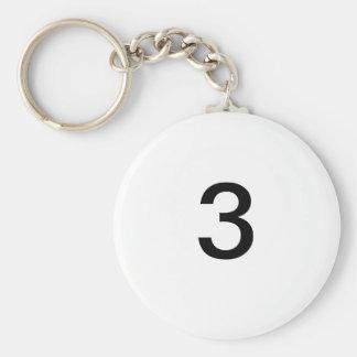 3 BASIC ROUND BUTTON KEYCHAIN