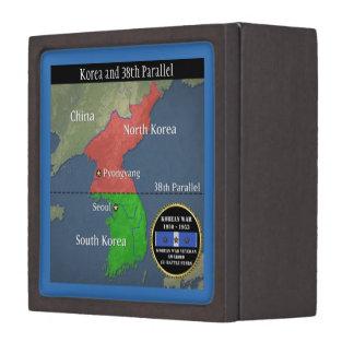 3 BATTLE STARS KOREAN WAR VETERAN JEWELRY BOX