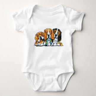 3 Beagles Baby Bodysuit
