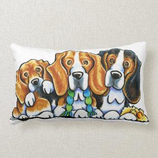 3 Beagles Lumbar Pillow