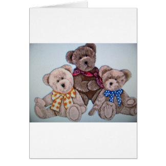 3 bears greeting cards