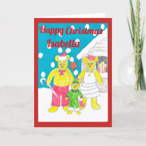 3 bears Christmas card isabella