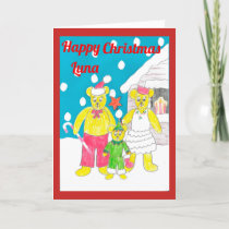 3 bears Christmas card luna