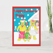 3 bears Christmas card Poppy