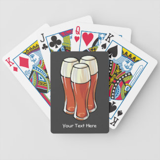 3 Beers (customizable) Bicycle Playing Cards