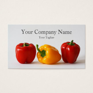 3 Bell Peppers Photograph - Business Card