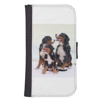 3 bernese-mountain-dogs.png galaxy s4 wallet case