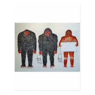 3 BIGFOOT, H, A, S, on white,.JPG Postcards