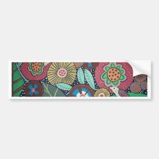 3 Bird Botanical Bumper Sticker