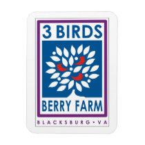 3 Birds Berry Farm Magnet