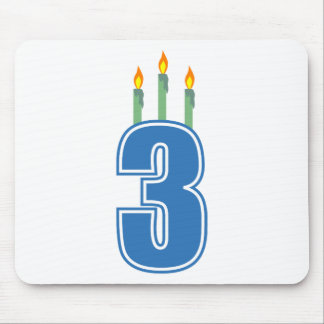 3 Birthday Candles (Blue / Green) Mouse Pad