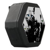 3 Black Cats Black Bluetooth Speaker