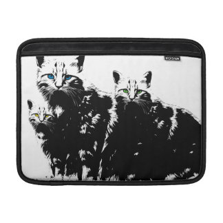 3 Black Cats MacBook Sleeve