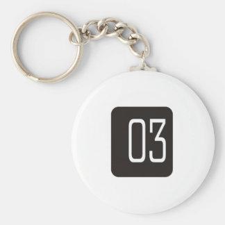 #3 Black Square Keychain