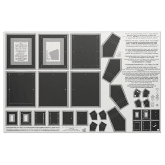 3 Black Zazzle Fabric photo frame crafts