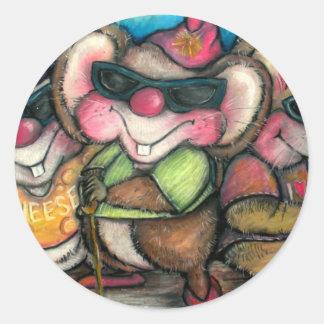 3 Blind Mice Nursery Rhymetime Card Classic Round Sticker