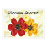 3 Blooming Recovery Personalized Announcements