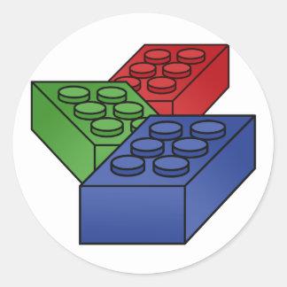 3 bloques huecos pegatina redonda