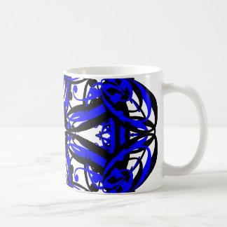 3 Blue Alternate Transparent Coffee Mug