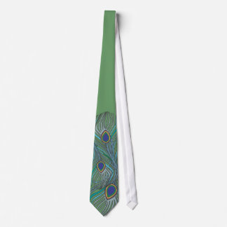 3 Blue Feathers Peacock Tie 4 Weddings OR Anytime