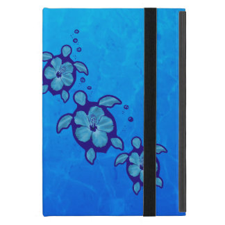 3 Blue Honu Turtles Cover For iPad Mini