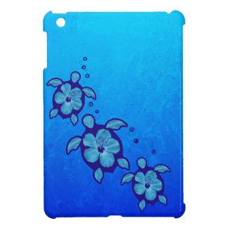 3 Blue Honu Turtles Case For The iPad Mini