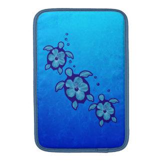 3 Blue Honu Turtles MacBook Sleeves