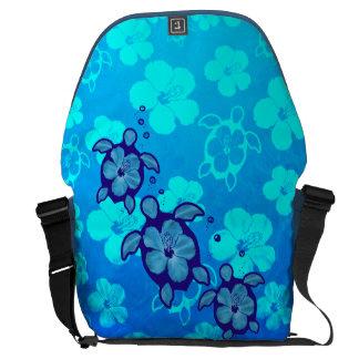 3 Blue Honu Turtles Messenger Bag