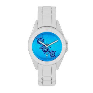 3 Blue Honu Turtles Watches