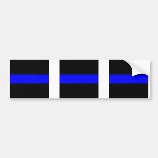 3 blue line window Sticker Car Bumper Sticker