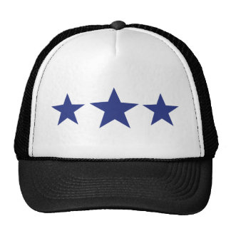 3 blue stars trucker hat