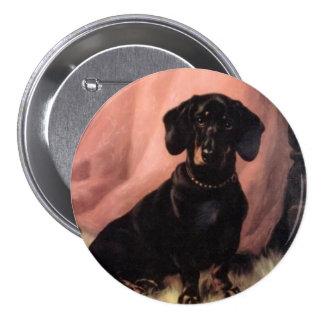 """3"""" botón del dachshund"""