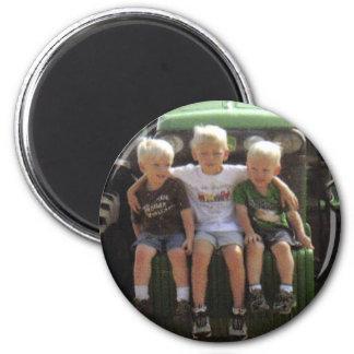 3 BOYS 2 INCH ROUND MAGNET