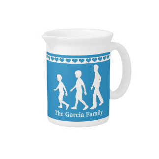 3 Brothers: Paper Cut-Out Style Boys Pitcher