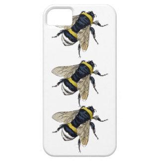 3 Bumble Bees Walking Be Unique Vintage Design iPhone SE/5/5s Case