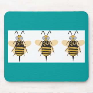 3 Bumblebees Mouse Pad