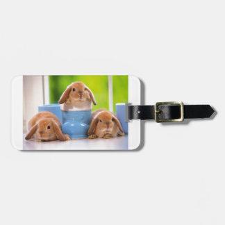 3 Bunnies Bag Tag