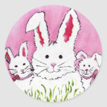 3 Bunny Family Sticker