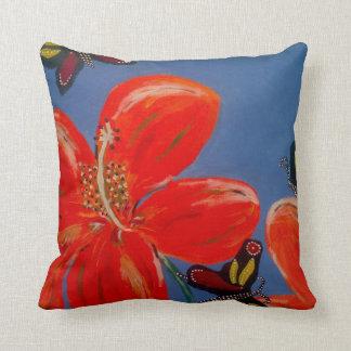 3 Butterflys Good Spirit Near Cushion Throw Pillows