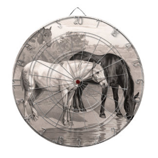 3 caballos, B&W Tablero De Dardos