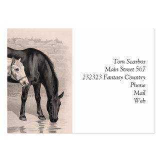 3 caballos B&W Plantillas De Tarjetas De Visita