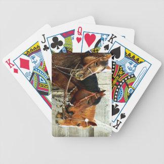 3 cabezas de caballo baraja cartas de poker