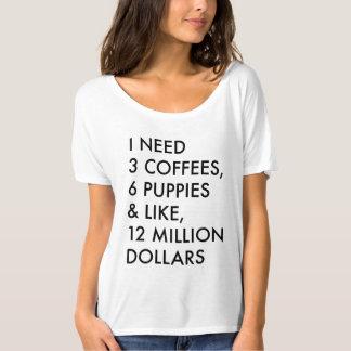 3 cafés, 6 perritos y como, 12 millones de dólares playera